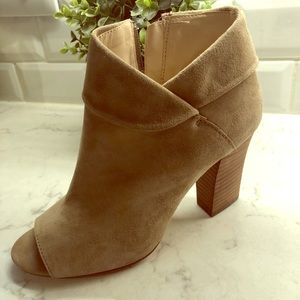 Suede booties by Nine West